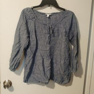 Chambray peasant top